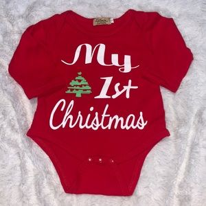 My first Christmas onesie (3 for $10)